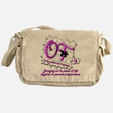 ot puzzle purple Messenger Bag