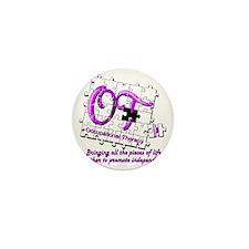 ot puzzle purple Mini Button