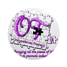 ot puzzle purple Round Ornament