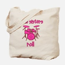 drums_pink_brown_littlesistersroll Tote Bag