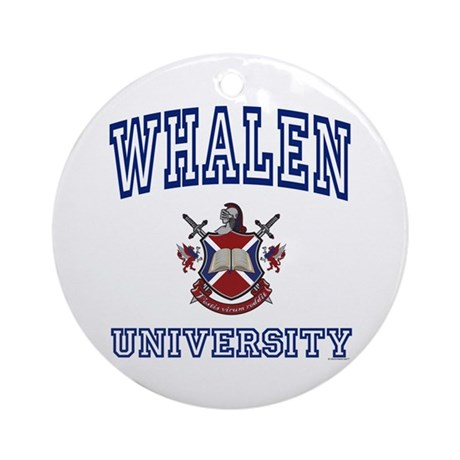 WHALEN University Ornament (Round)