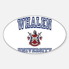 WHALEN University Oval Decal
