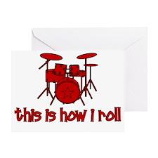 drums_thisishowiroll Greeting Card
