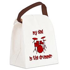 drums_mydadisthedrummer Canvas Lunch Bag