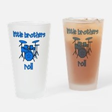 drums_littlebrothersroll_BLUE Drinking Glass