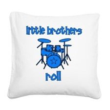 drums_littlebrothersroll_BLUE Square Canvas Pillow