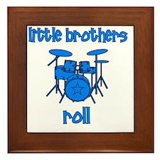 drums_littlebrothersroll_BLUE Framed Tile