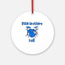 drums_littlebrothersroll_BLUE Round Ornament