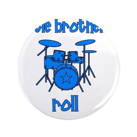 """drums_littlebrothersroll_BLUE 3.5"""" Button"""