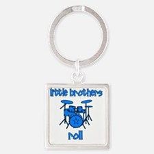 drums_littlebrothersroll_BLUE Square Keychain