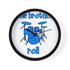drums_littlebrothersroll_BLUE Wall Clock
