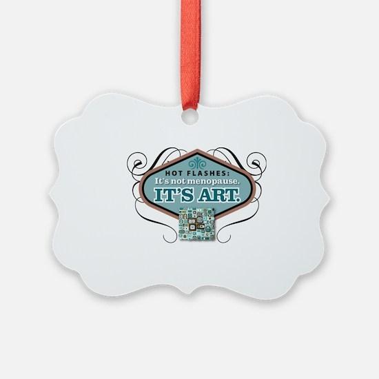 hot flashesBlu Ornament