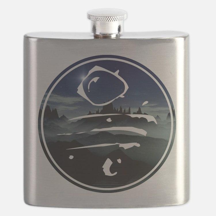 spoonfed tribe tee design 7 Flask
