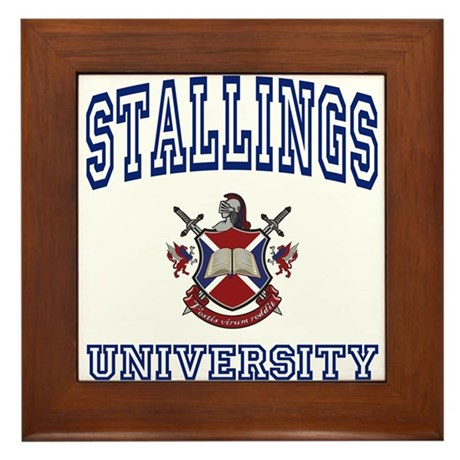 STALLINGS University Framed Tile