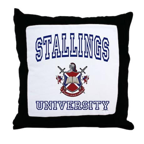 STALLINGS University Throw Pillow