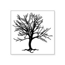 "tree2 Square Sticker 3"" x 3"""