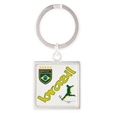 brasil(blk) Square Keychain