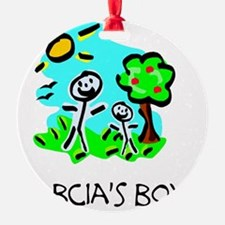 babcias boy stick figure Ornament