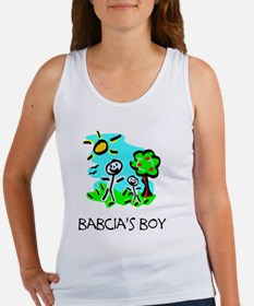 babcias boy stick figure Women's Tank Top