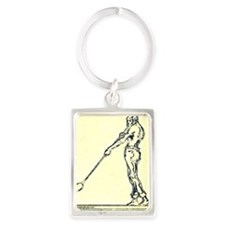 DrakeGlassblower copy Portrait Keychain