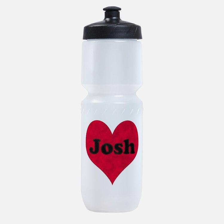 Josh Leather Heart Sports Bottle