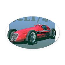Maserati4CLT-8trans Oval Car Magnet