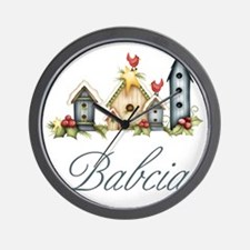 babcia birdhouse Wall Clock