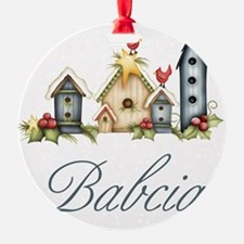 babcia birdhouse Ornament