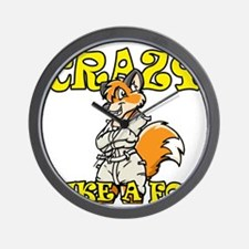 crazy_like_a_fox Wall Clock