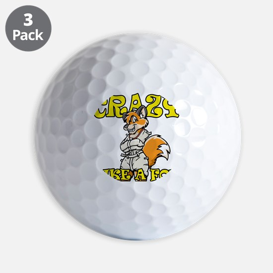 crazy_like_a_fox Golf Ball