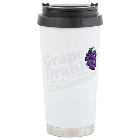 grapedrinkwhite Stainless Steel Travel Mug