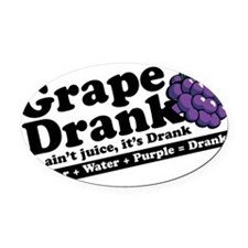 Grape Drank Oval Car Magnet