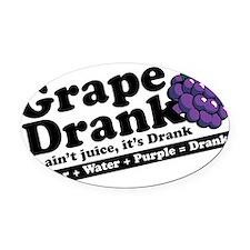 Grape Drank Oval Car Magnet