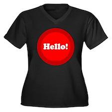 btn-hello Women's Plus Size Dark V-Neck T-Shirt