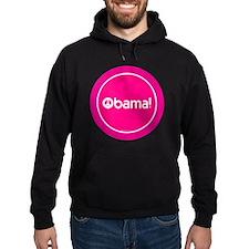 2-btn-obamapeace-pink Hoodie