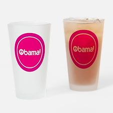 2-btn-obamapeace-pink Drinking Glass
