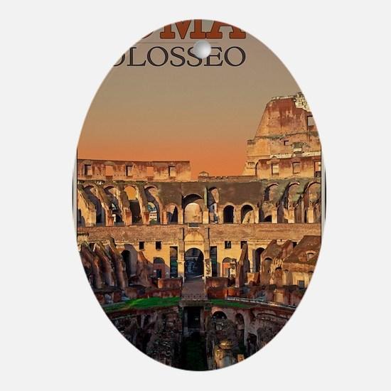 Rome - Colosseum Moon Oval Ornament