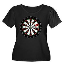 Id_hit_t Women's Plus Size Dark Scoop Neck T-Shirt