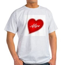 I love Alice products Ash Grey T-Shirt