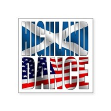 "Highland Dance Square Sticker 3"" x 3"""