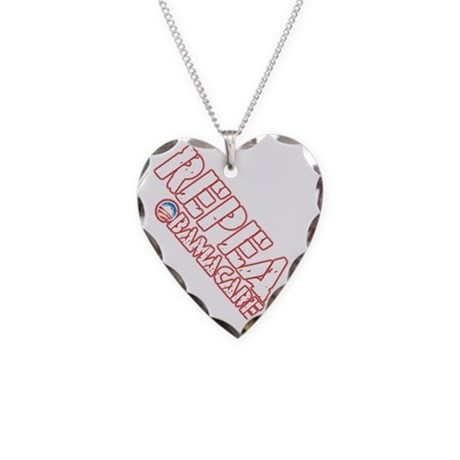 repeal_o_shirt_dk Necklace Heart Charm
