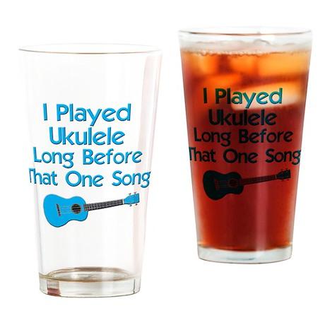 funny ukulele uke ukelele Drinking Glass