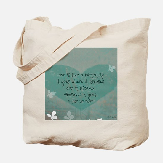 12x9 butterfly panel print Tote Bag