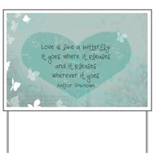 12x9 butterfly panel print Yard Sign