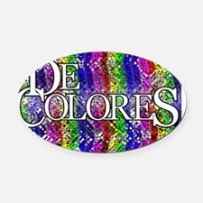 DeColores Front Notecard1 Oval Car Magnet