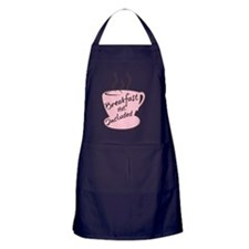 pink breakfast6x6 Apron (dark)