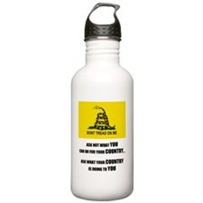 gadsden shirt Water Bottle