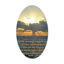 psalm143v Oval Car Magnet