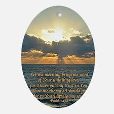 psalm143v Oval Ornament