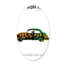 bib Oval Car Magnet